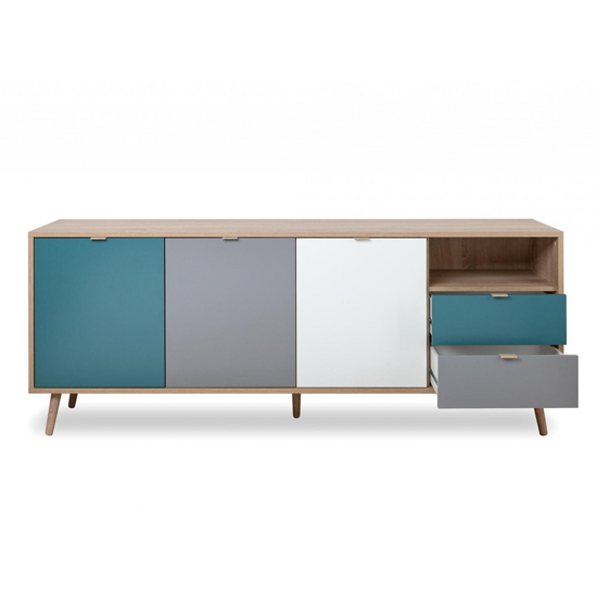 Sorio Sideboard In Sonoma Oak And Tricolor With 3 Doors 2 Drawer_6