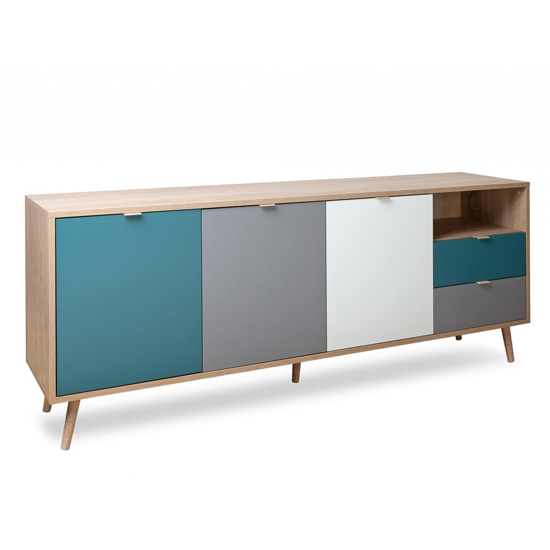 Sorio Sideboard In Sonoma Oak And Tricolor With 3 Doors 2 Drawer_2