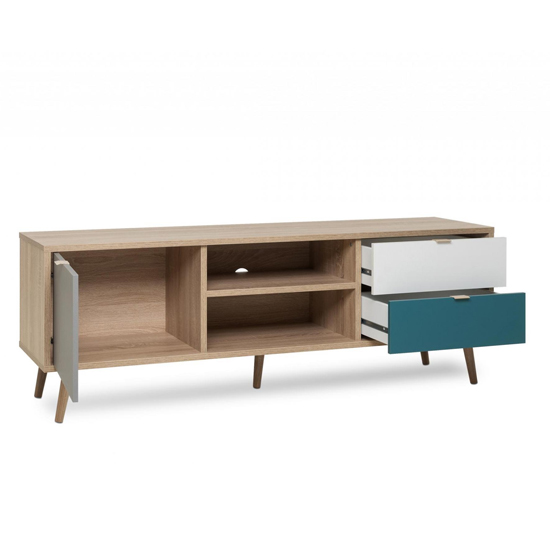Sorio TV Unit In Sonoma Oak And Tricolor With 1 Door 2 Drawers_5