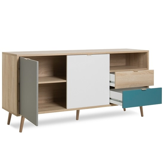 Sorio Sideboard In Sonoma Oak And Tricolor With 2 Doors_2