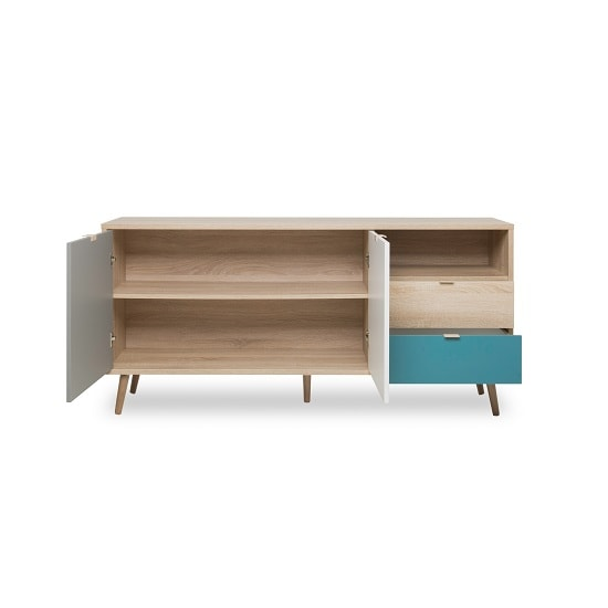 Sorio Sideboard In Sonoma Oak And Tricolor With 2 Doors_3