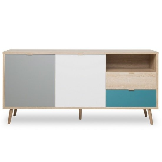 Sorio Sideboard In Sonoma Oak And Tricolor With 2 Doors_6