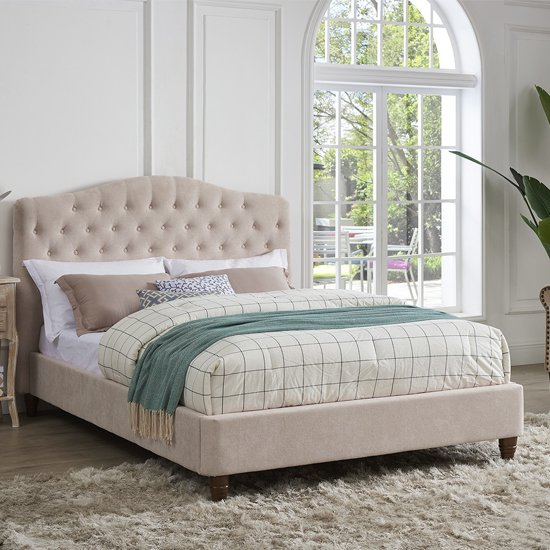 Sorrento Double Fabric Bed In Pink