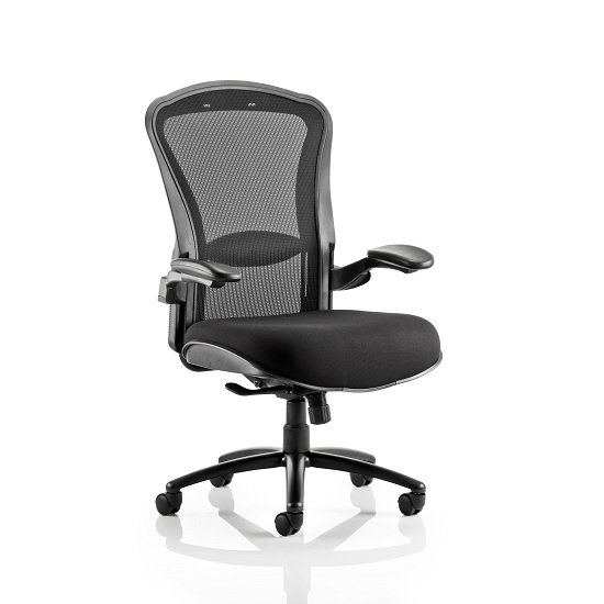 Read more about Spencer modern home office chair in black with castors