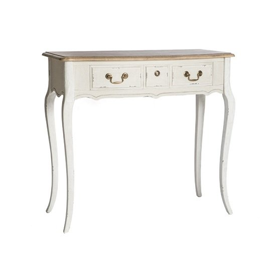 Photo of Spencer wooden console table small in white
