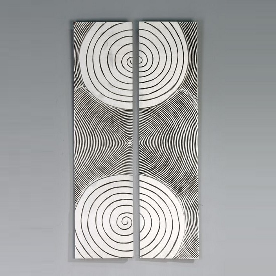 Read more about Sphere wall art in antique silver and wood finish