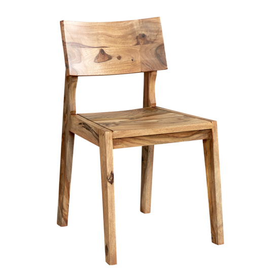 Spica Natural Sheesham Wooden Dining Chairs In Pair_2