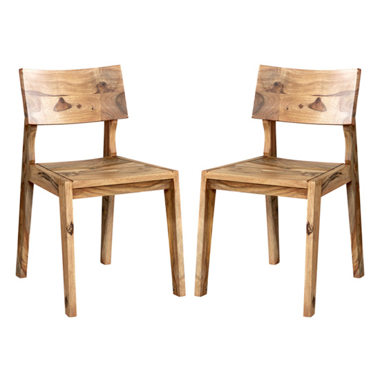 Spica Natural Sheesham Wooden Dining Chairs In Pair_1