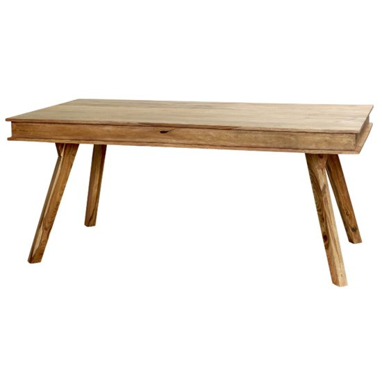 Spica Wooden Dining Table In Natural Sheesham