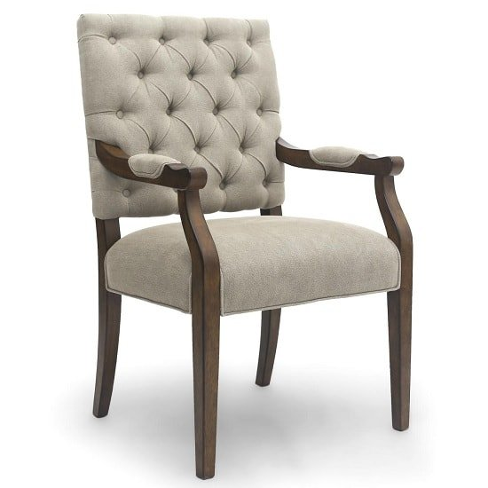 Spicer Modern Carver Chair In Natural With Wooden Legs