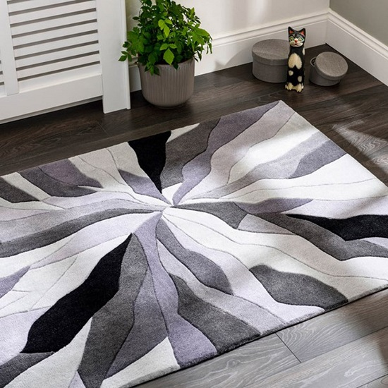 Infinite Splinter Grey Rug