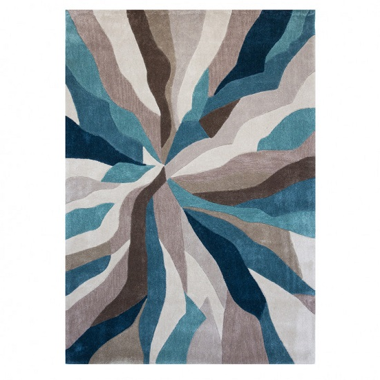 Infinite Splinter Teal Rug_2