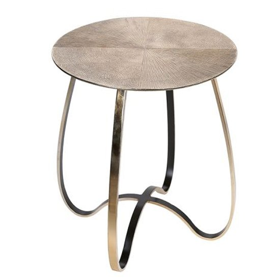 Split Aluminium Large Side Table In Champagne_1