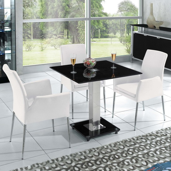 Square Ice Black Dining Table Only