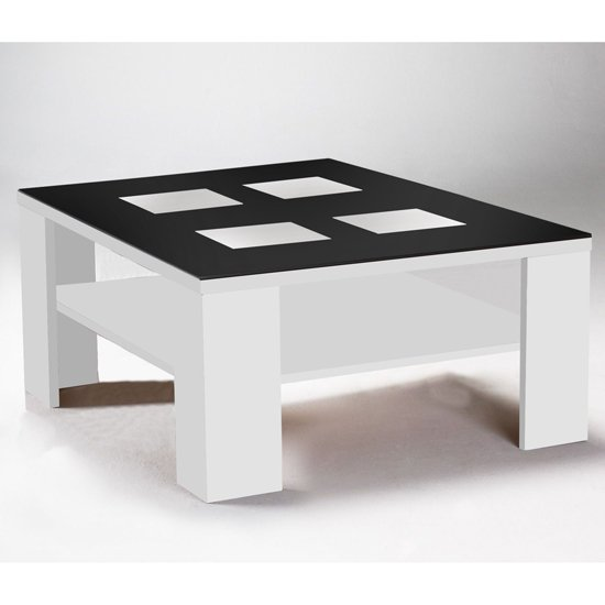 Elisa Black Square Coffee Table In Gloss Black For Go