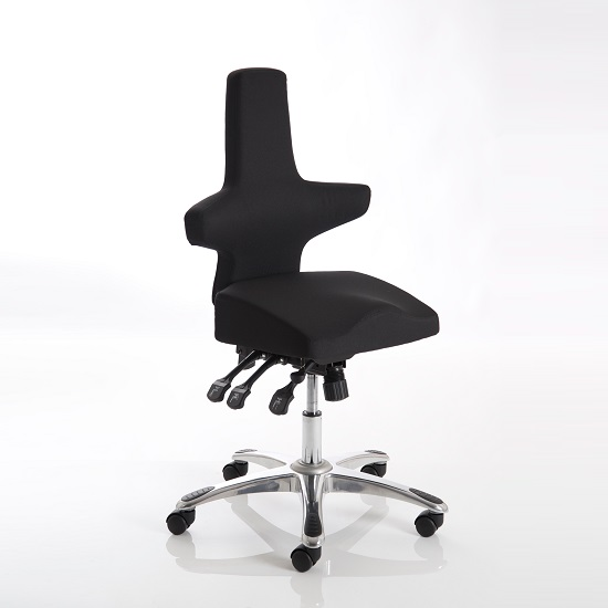 Stacy Home Office Chair In Black With Chrome Base