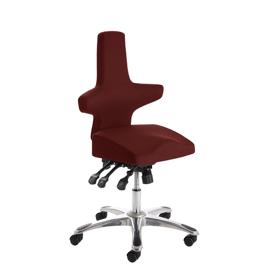 Stacy Home Office Chair In Chilli With Chrome Base