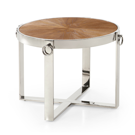 Stafford Wooden End Table In Ash Veneer
