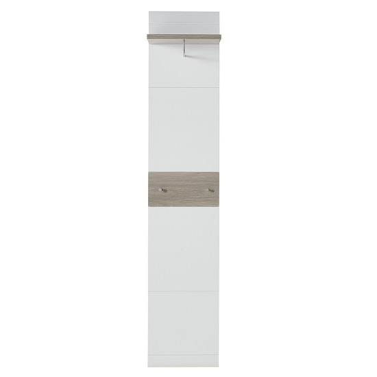 Staley Wall Mounted Coat Rack Panel In Nelson Oak And White_2