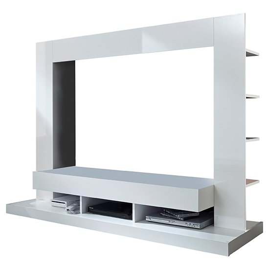 Stamford Entertainment Unit In White Gloss Fronts With Shelving_9