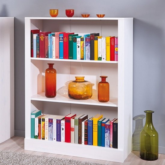 Stanley Shelving Unit In White With 2 Shelf
