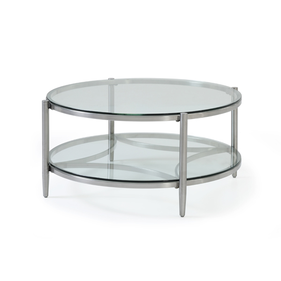 Stanmore Glass Coffee Table With Brushed Stainless Steel Frame