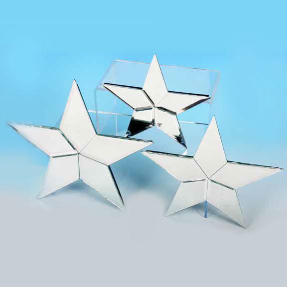 3 Piece Mirrored Star Set