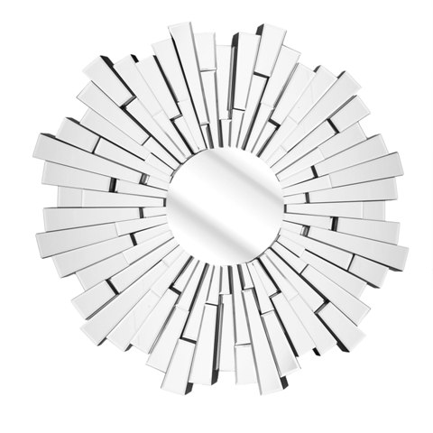 starburst wall mirror SOL 0010 - Decorating With Mirrors Adds New Dimensions