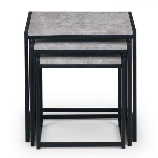 Staten Metal Set Of 3 Nesting Tables In Concrete Effect_3