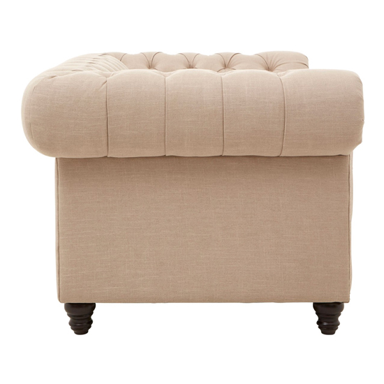Poerava 2 Seater Linen Sofa With Beige     _3