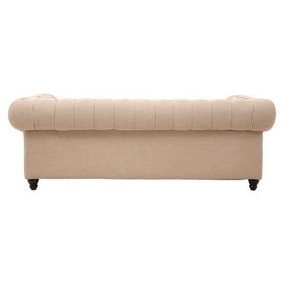 Poerava 3 Seater Linen Sofa In Beige     _4