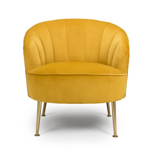 Stelloma Velvet Upholstered Tub Chair In Apricot_2