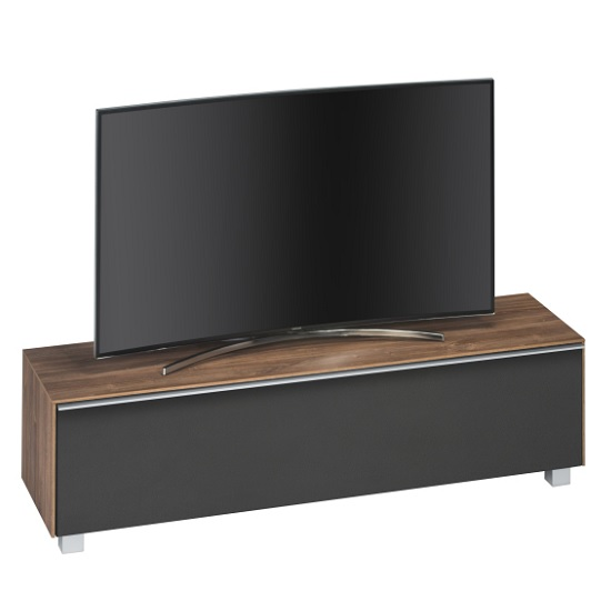 Stella Wooden TV Stand In Dark Oak And Black Acoustic
