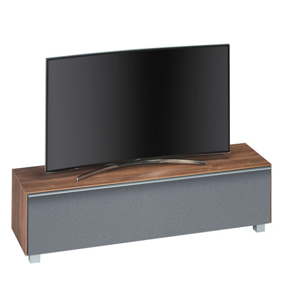 Stella Wooden TV Stand In Dark Oak And Grey Acoustic