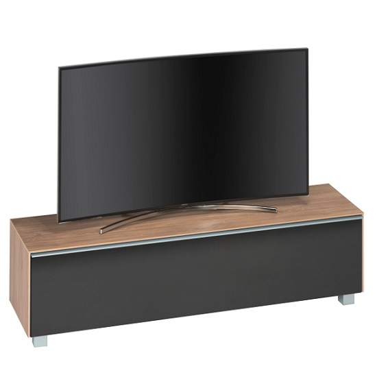 Stella Wooden TV Stand In Light Oak And Black Acoustic