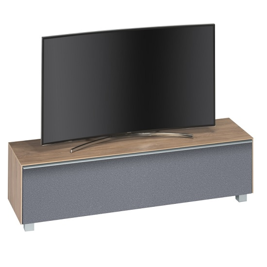 Stella Wooden TV Stand In Light Oak And Grey Acoustic