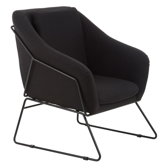 Porrima Black Chair With Stainless Steel Legs     _2