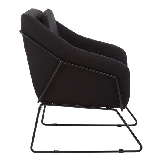 Porrima Black Chair With Stainless Steel Legs     _3