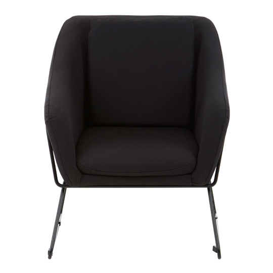 Porrima Black Chair With Stainless Steel Legs     _1