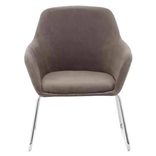 Porrima Fabric Chair in Grey With Stainless Steel Legs