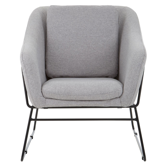 Porrima Grey Chair With Stainless Steel Legs
