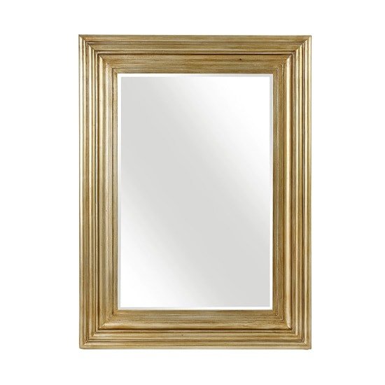 Stockholm Wall Mirror Rectangular In Gold Finish