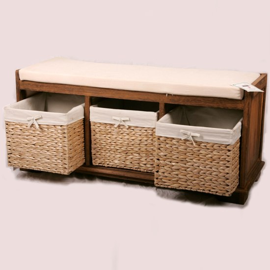 storage basket bench 84 8146 - Old Farmhouse Style Furniture For Sale