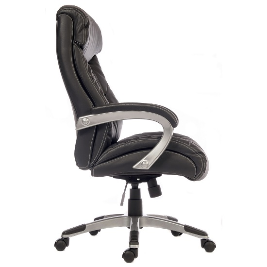 Stratos Executive Office Chair In Black Faux Leather_2