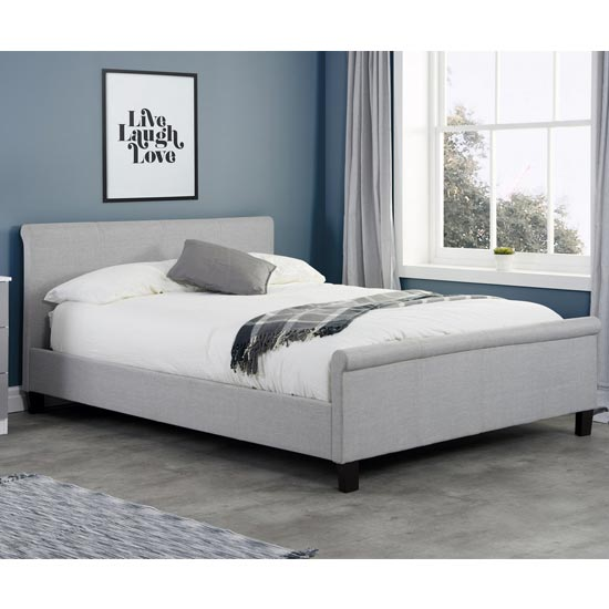 Stratus Fabric King Size Bed In Grey