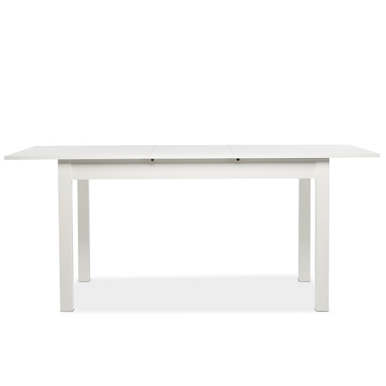 Stripe 140x180cm Wooden Extendable Dining Table In White_2