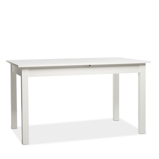 Stripe 140x180cm Wooden Extendable Dining Table In White_3
