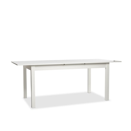 Stripe 160x200cm Wooden Extendable Dining Table In White