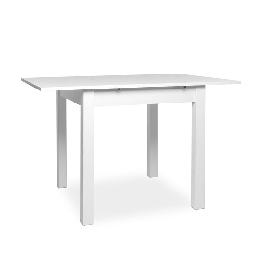 Stripe 80x120cm Wooden Extendable Dining Table In White