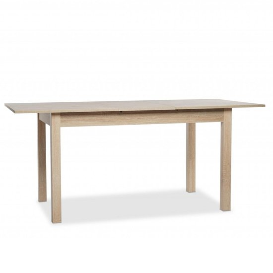 Stripe Medium Extendable Dining Table In Sonoma Oak